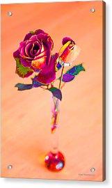 Rose For Love - Metaphysical Energy Art Print Acrylic Print by Alex Khomoutov