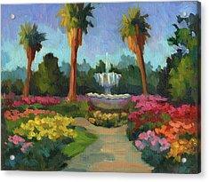 Rose Garden Acrylic Print by Diane McClary