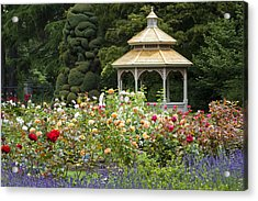 Acrylic Print featuring the photograph Rose Garden Gazebo by Sonya Lang