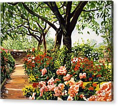 Rose Garden Impressions Acrylic Print by David Lloyd Glover