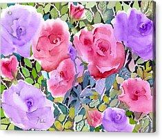 Rose Garden Acrylic Print by Neela Pushparaj