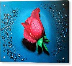 Rose Acrylic Print by Geni Gorani