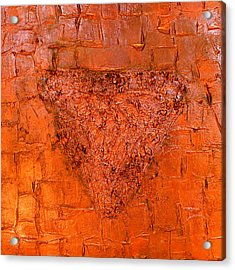 Rose Gold Mixed Media Triptych Part 3 Acrylic Print