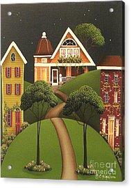 Rose Hill Lane Acrylic Print by Catherine Holman