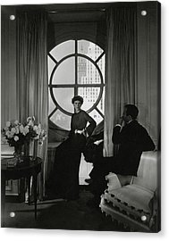 Rose Hobart Standing By A Window Acrylic Print