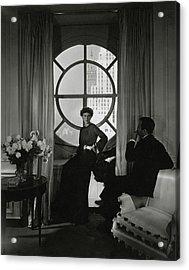 Rose Hobart Standing By A Window Acrylic Print by Edward Steichen