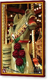 Rose Horse In Color Acrylic Print