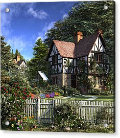 Rose House Acrylic Print by Dominic Davison