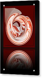 Rose In Orb Acrylic Print