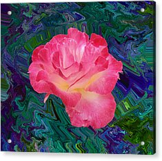 Rose In The Matter Of Your Hand V7 Acrylic Print