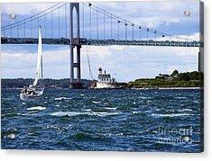 Rose Island Light Acrylic Print by Butch Lombardi