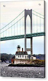 Rose Island Lighthouse Acrylic Print