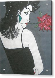 Acrylic Print featuring the painting Rose Lady by Nora Shepley