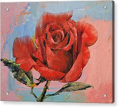 Rose Painting Acrylic Print
