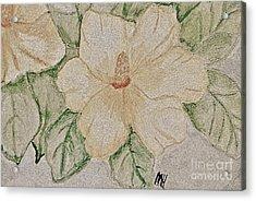Rose Of Sharon Painting Acrylic Print