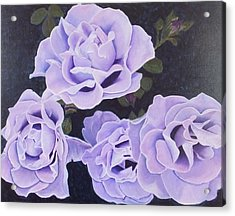 Rose Ripples Acrylic Print by Vicki Watson