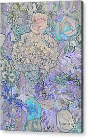 Acrylic Print featuring the digital art Rose Tapestry  by Mae Wertz
