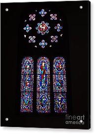Rose Window At Wcf Washington Dc Acrylic Print by Rod Ismay