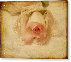 Acrylic Print featuring the photograph Rose With Vintage Feel by Sandra Foster