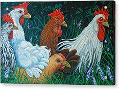 Rosebank Farm Chickens Acrylic Print