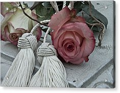 Acrylic Print featuring the photograph Roses And Tassels by Sandra Foster