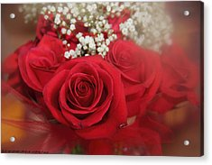 Acrylic Print featuring the photograph Roses Are Red by Elaine Malott