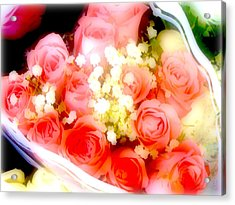 Acrylic Print featuring the photograph Roses Are Red. by Ira Shander