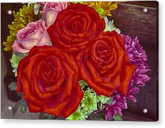Roses Are Red Acrylic Print by Mario Legaspi