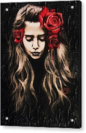 Roses Are Red Acrylic Print by Sheena Pike