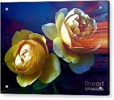 Roses By The Sea Acrylic Print