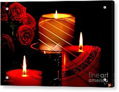 Roses Candles And Music Mean Love Acrylic Print