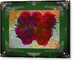 Roses- Featured In Beautiful Roses And Comfortable Art Groups Acrylic Print by EricaMaxine  Price
