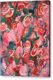 Acrylic Print featuring the painting Roses by Fereshteh Stoecklein