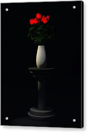 Acrylic Print featuring the digital art Roses For Sk... by Tim Fillingim