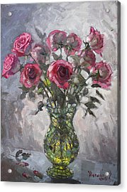 Roses For Viola 2 Acrylic Print by Ylli Haruni