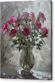 Roses For Viola Acrylic Print by Ylli Haruni
