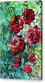 Roses Acrylic Print by Mindy Newman
