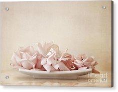 Roses Acrylic Print by Priska Wettstein