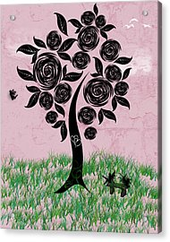 Rosey Posey Acrylic Print by Rhonda Barrett
