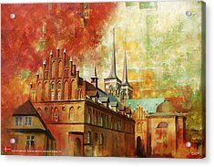 Roskilde Cathedral Acrylic Print by Catf