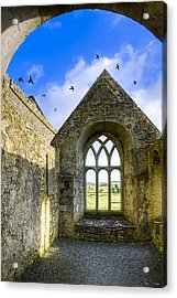 Ross Errilly Friary - Irish Monastic Ruins Acrylic Print by Mark E Tisdale