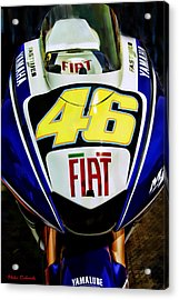 Rossi Yamaha Acrylic Print