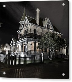 Rosson House Haunted Black And White Acrylic Print