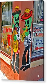 Roswell Aliens Acrylic Print by Gregory Dyer