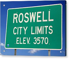 Acrylic Print featuring the photograph Roswell New Mexico by Bob Pardue
