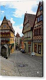 Rothenburg Ob Der Tauber Acrylic Print by Corinne Rhode