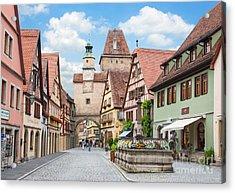 Rothenburg Ob Der Tauber Acrylic Print