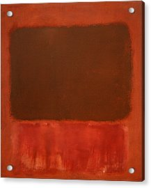 Rothko's Mulberry And Brown Acrylic Print