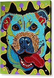 Joyful Pup From Krelly Art Acrylic Print