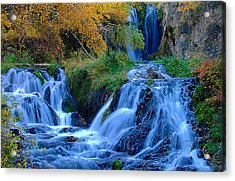 Rough Lock Falls Sd Acrylic Print by John Currie